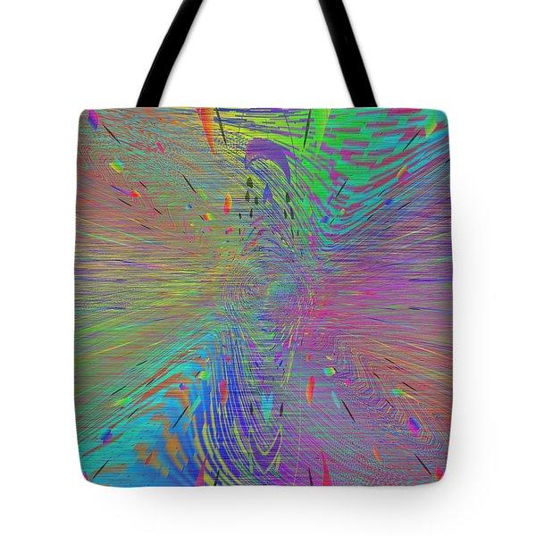 Warp Of The Rainbow Tote Bag by Tim Allen