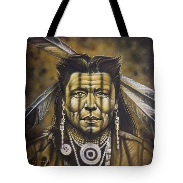 Warpath Tote Bag by Tim  Scoggins