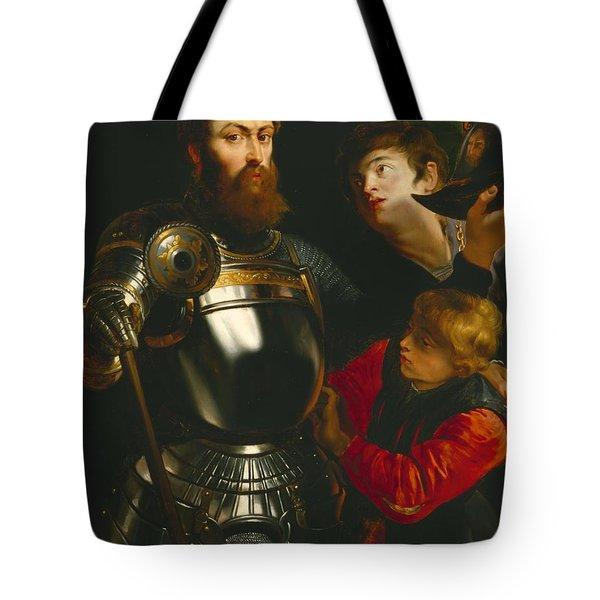Warrior  Tote Bag by Peter Paul Rubens