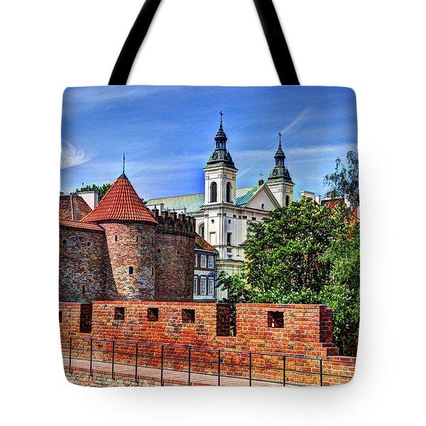 Warsaw Church Tote Bag by Jon Berghoff