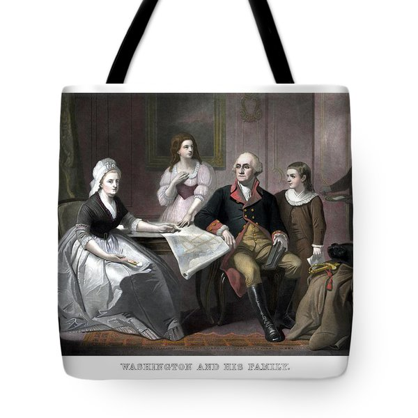 Washington And His Family Tote Bag by War Is Hell Store