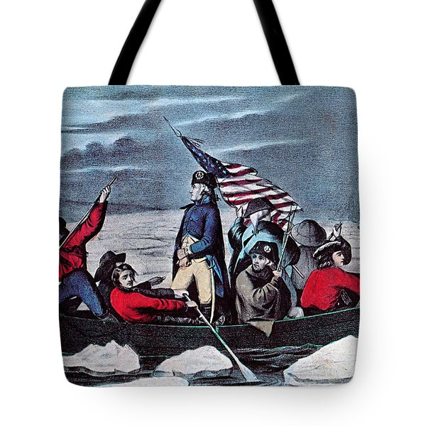Washington Crossing The Delaware, 1776 Tote Bag by Photo Researchers