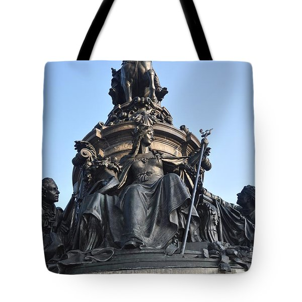 Washington Monument Philadelphia - Front View Tote Bag by Bill Cannon