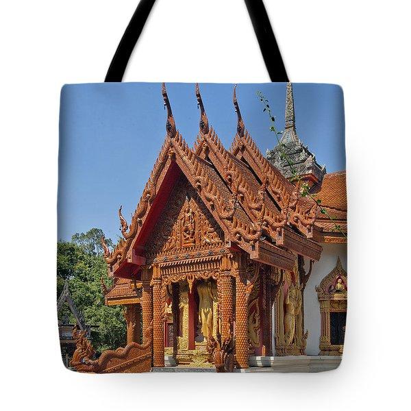Wat Ban Tha Bo Ubosot Dthu200 Tote Bag by Gerry Gantt