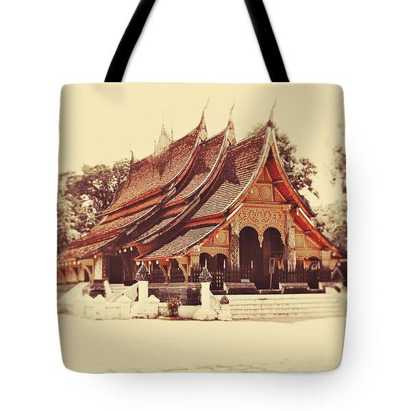 Wat Xieng Thong Tote Bag by Danny Van den Groenendael