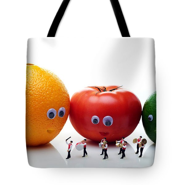 Watching Festival Parade Tote Bag by Paul Ge