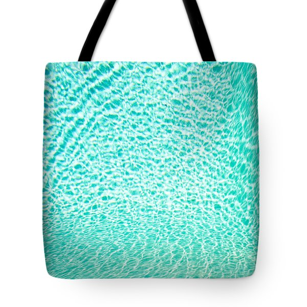 Water Background Tote Bag by Tom Gowanlock