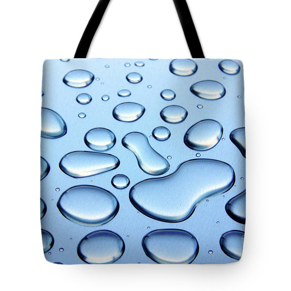 Water Drops Tote Bag by Carlos Caetano