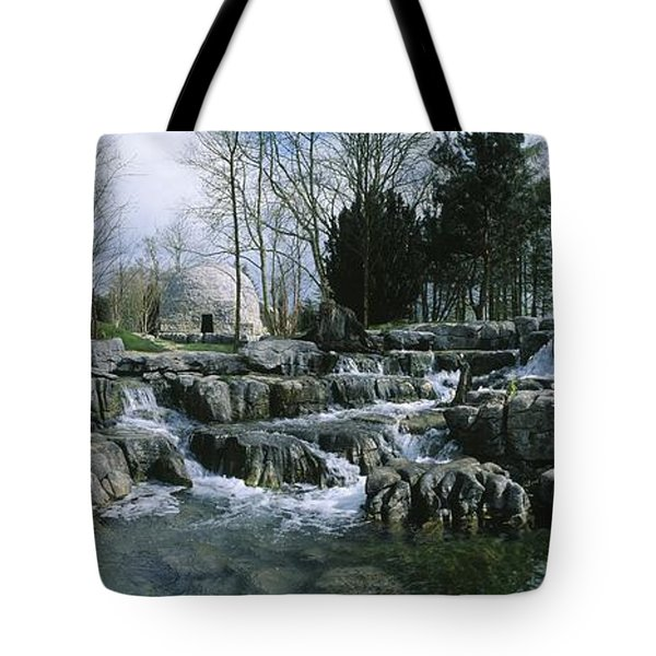 Water Flowing In A Garden, St. Fiachras Tote Bag by The Irish Image Collection