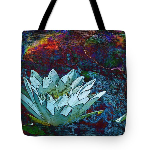 Water Lily Abstract Tote Bag by Phyllis Denton