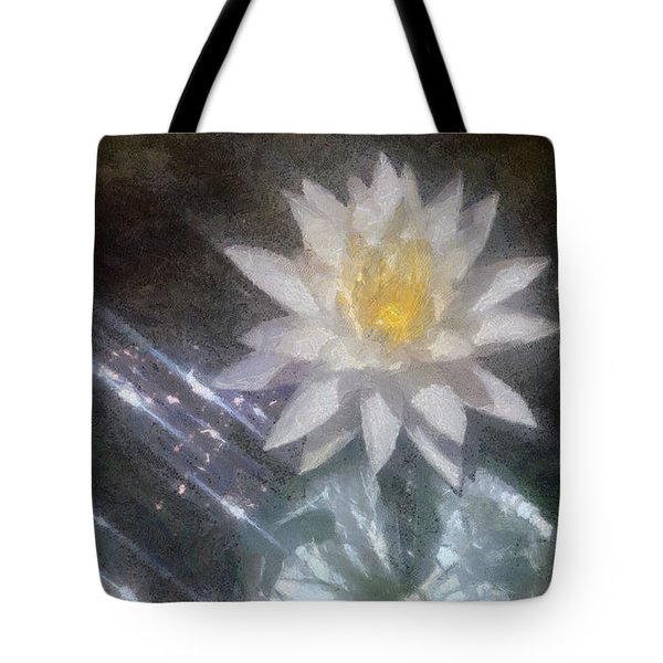 Water Lily in Sunlight Tote Bag by Jeff Kolker
