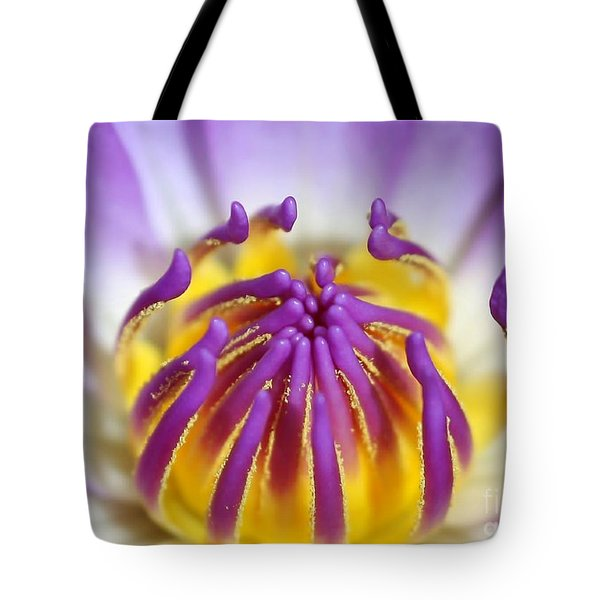 Water Lily Sticky Fingers Tote Bag by Sabrina L Ryan