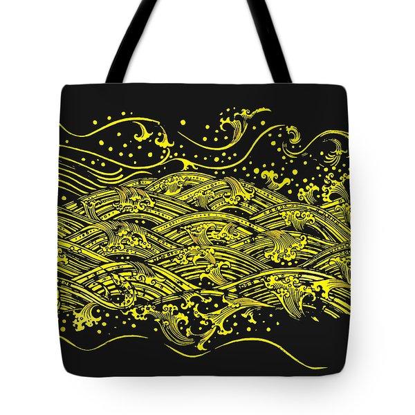 Water Pattern Tote Bag by Setsiri Silapasuwanchai