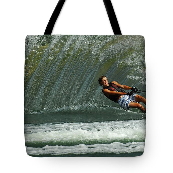 Water Skiing Magic of Water 1 Tote Bag by Bob Christopher