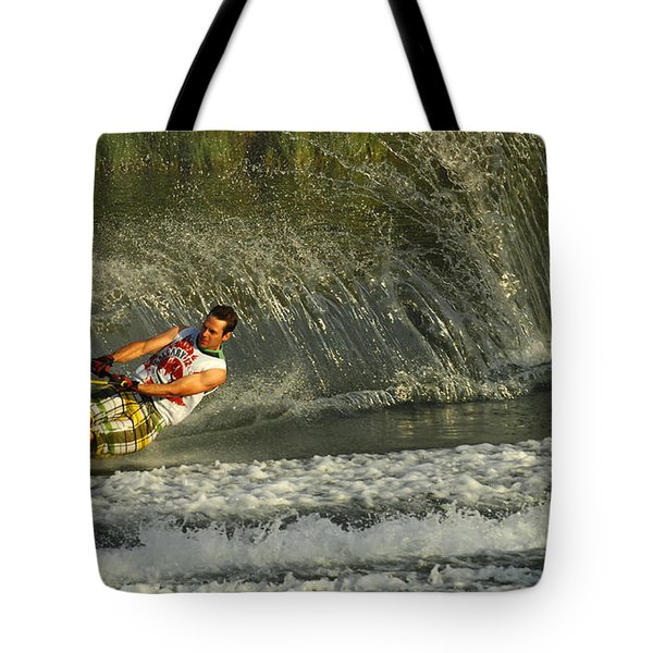 Water Skiing Magic of Water 8 Tote Bag by Bob Christopher