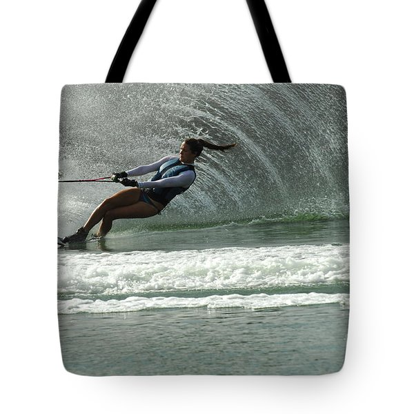 Water Skiing Magic of Water 9 Tote Bag by Bob Christopher