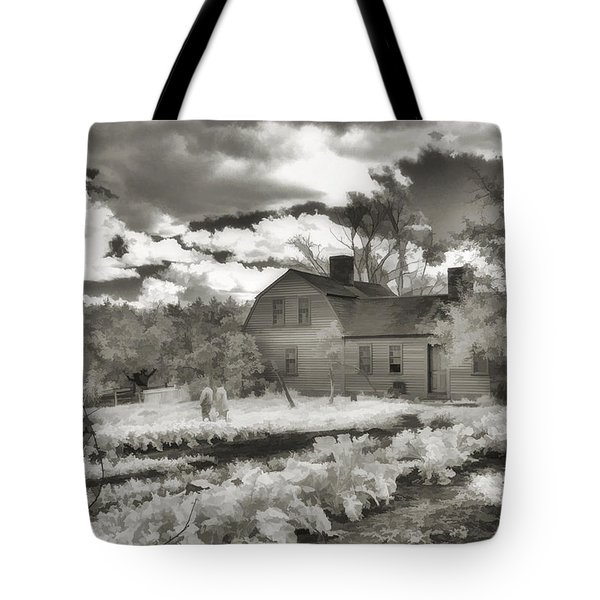 Watercolor In Black And White Tote Bag by Joann Vitali