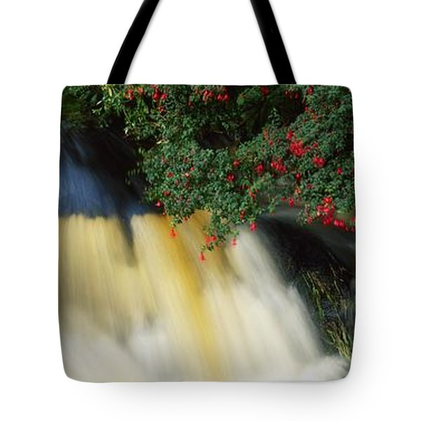 Waterfall And Fuschia, Ireland Tote Bag by The Irish Image Collection