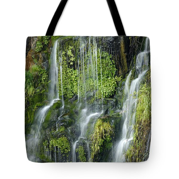 Waterfall At Columbia River Washington Tote Bag by Ted J Clutter and Photo Researchers