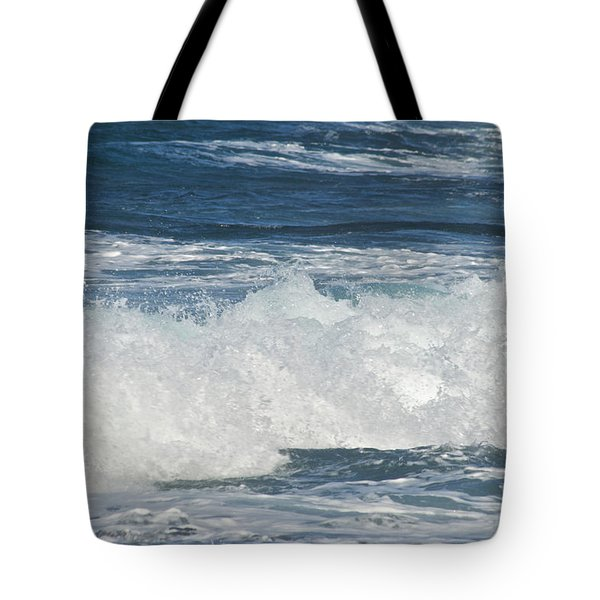 Waves Breaking 7964 Tote Bag by Michael Peychich