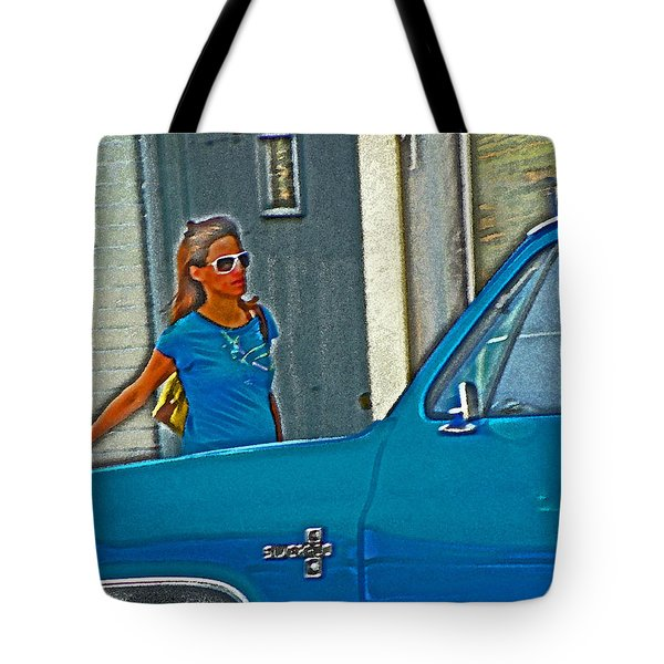 Wearing The City Tote Bag by Lenore Senior