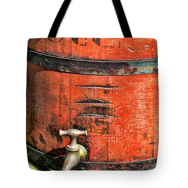 Weathered Red Oil Bucket Tote Bag by Paul Ward