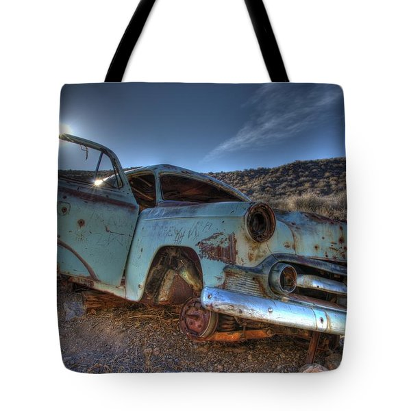 Welcome To Death Valley Tote Bag by Bob Christopher