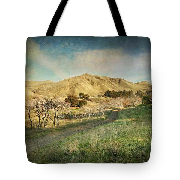 We'll Walk These Hills Together Tote Bag by Laurie Search