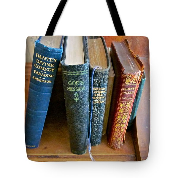 Well worn ... well read ... well ... Tote Bag by Gwyn Newcombe