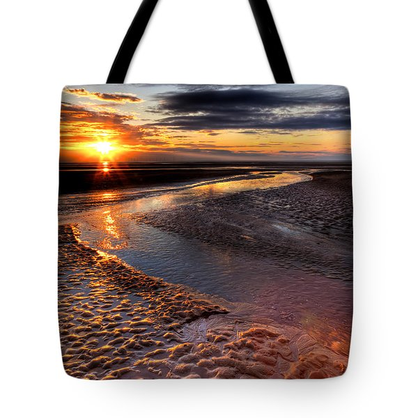 Welsh Sunset Tote Bag by Adrian Evans