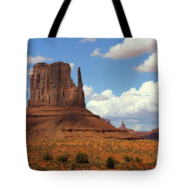 West Mitten Butte Tote Bag by Saija  Lehtonen
