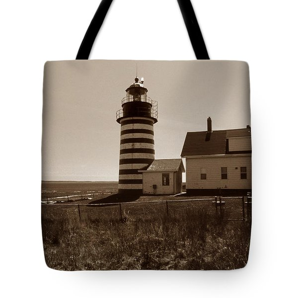 WEST QUODDY LIGHTHOUSE Tote Bag by Skip Willits