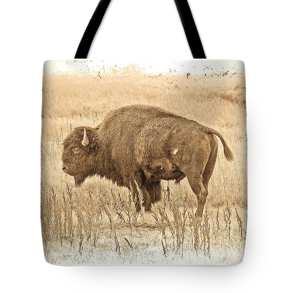 Western Buffalo Tote Bag by Steve McKinzie