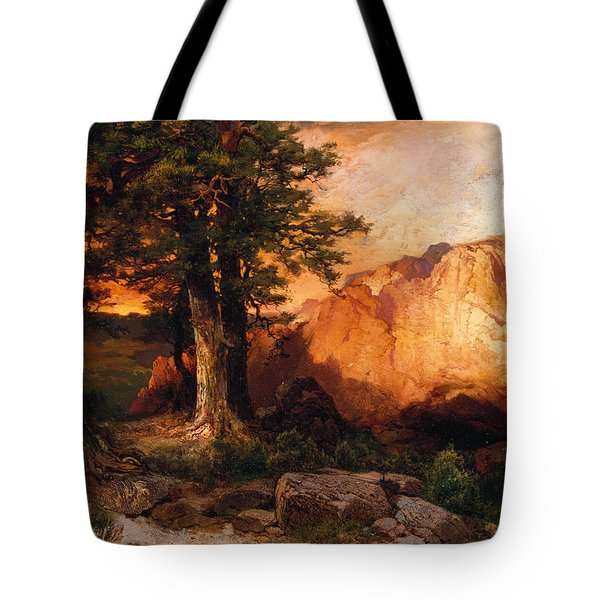 Western Sunset Tote Bag by Thomas Moran