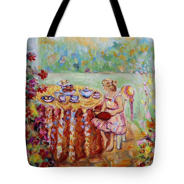 Westmount Garden Montreal City Scene Tote Bag by Carole Spandau