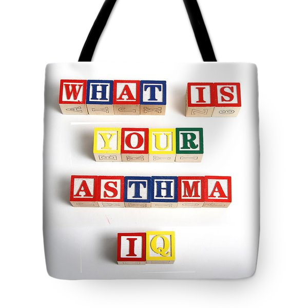 What Is Your Asthma Iq Tote Bag by Photo Researchers