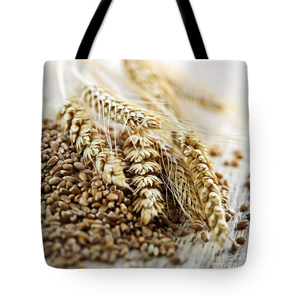 Wheat ears and grain Tote Bag by Elena Elisseeva