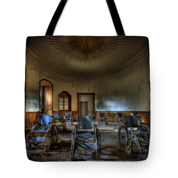 Wheelchairs are us Tote Bag by Nathan Wright