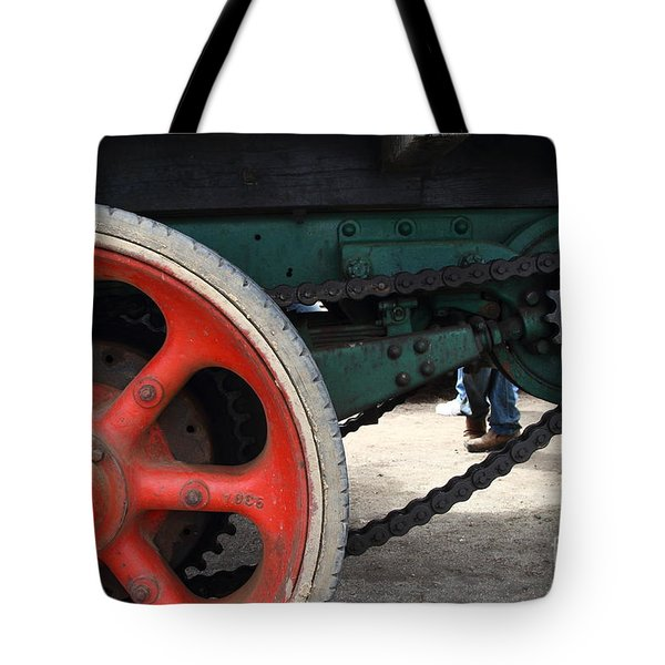 Wheels of Steam Powered Truck 7d15103 Tote Bag by Wingsdomain Art and Photography