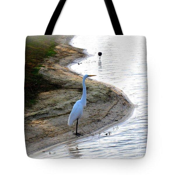 Where The Herons Meet Tote Bag by Susanne Van Hulst