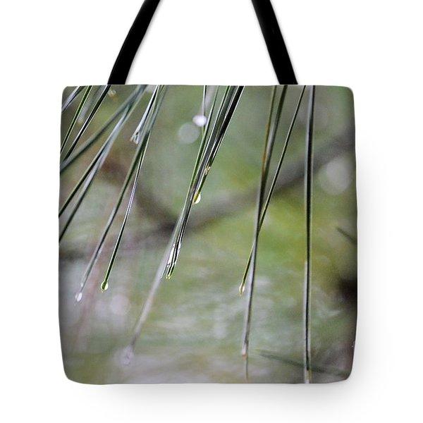 Whispers Of An Autumn Rain Tote Bag by Maria Urso