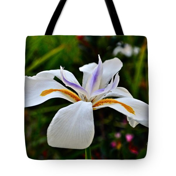 White African Iris Tote Bag by Gwyn Newcombe