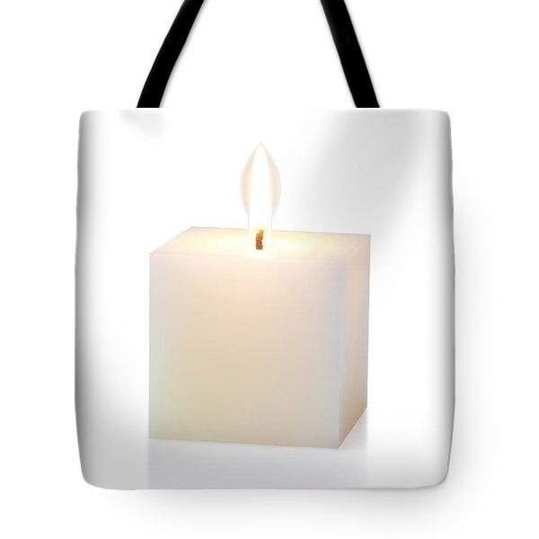 white cubic candle Tote Bag by ATIKETTA SANGASAENG
