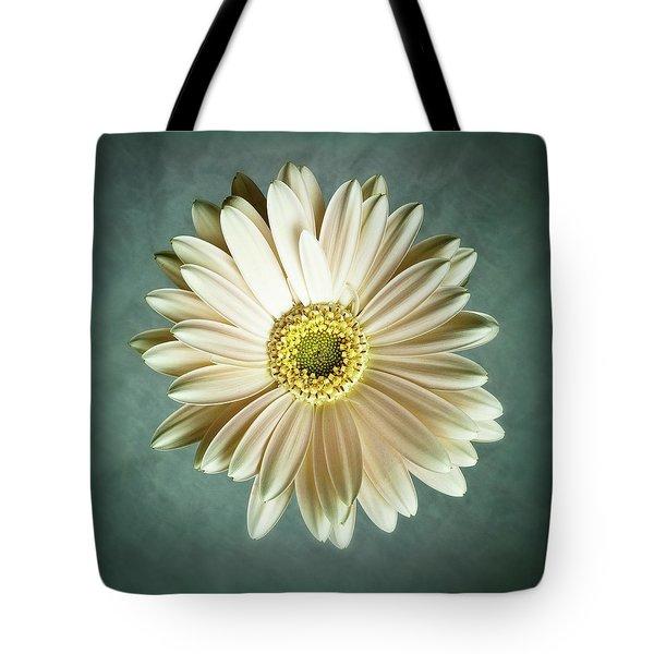 White Daisy Tote Bag by Tamyra Ayles