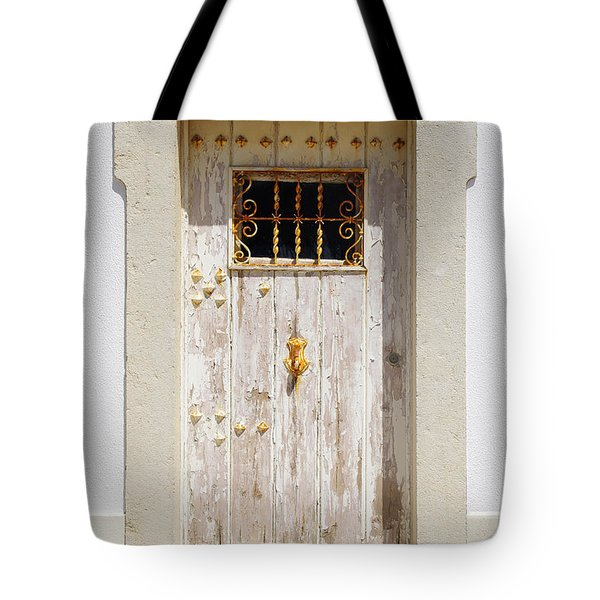 White Door Tote Bag by Carlos Caetano