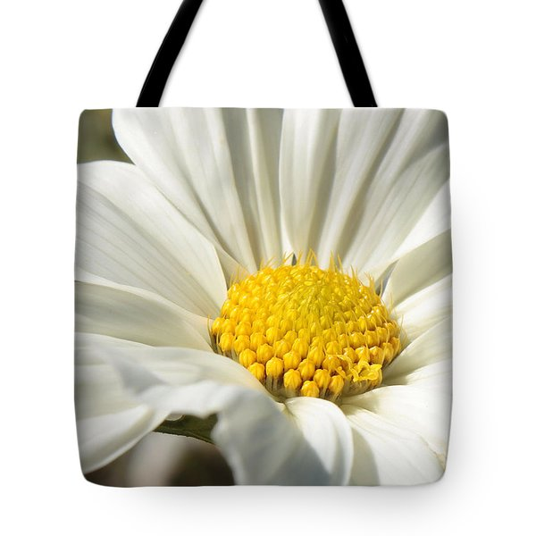 White Flower Tote Bag by Carol Groenen