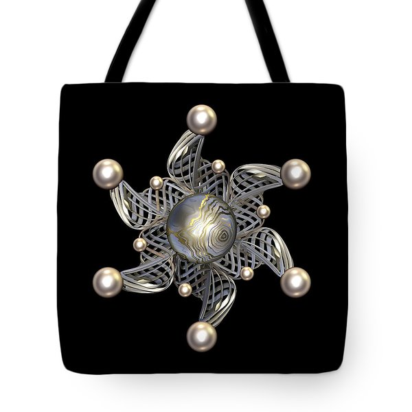 White Gold and Pearls Tote Bag by Hakon Soreide