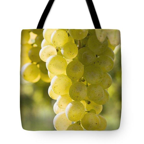 White Grapes Tote Bag by Michael Interisano