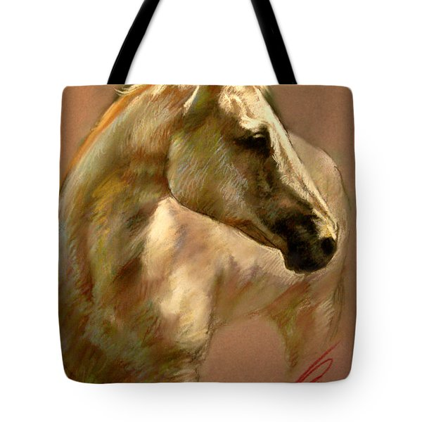 White Horse Tote Bag by Ylli Haruni