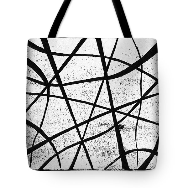 White on Black Tote Bag by Hakon Soreide